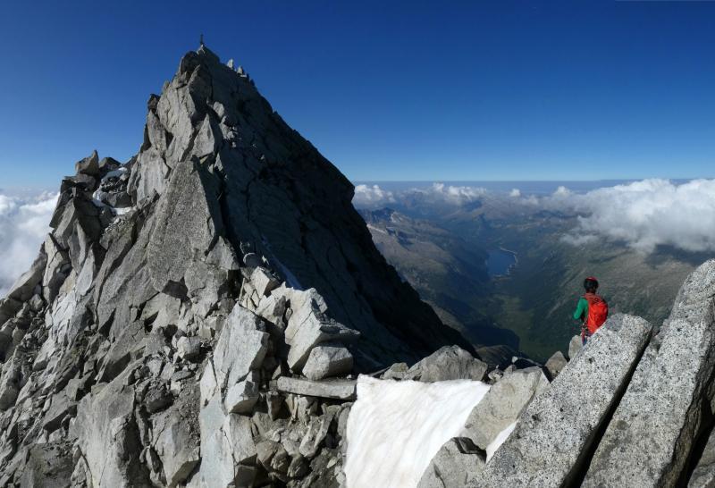 l'ultimo tratto per la cima Carè Alto