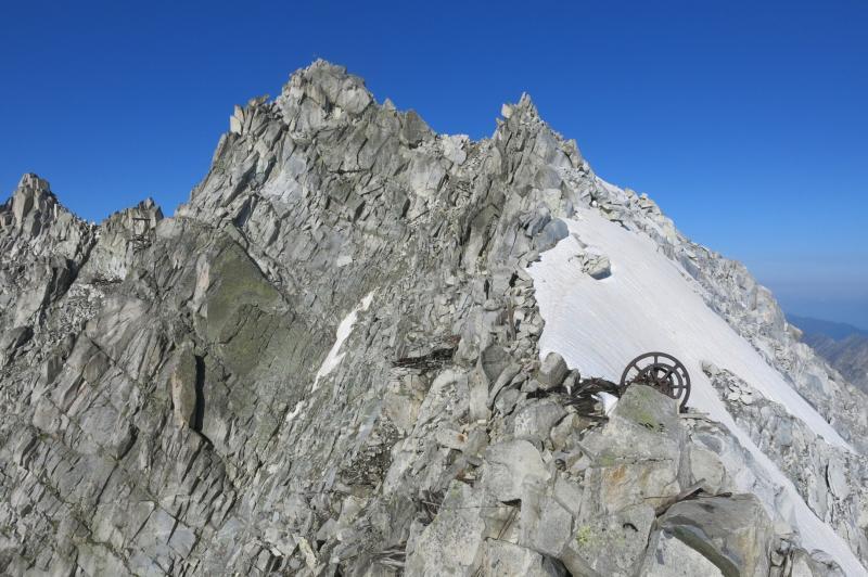 la cima del Carè Alto vista dalla cresta est