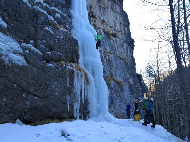 corso di arrampicata su ghiaccio