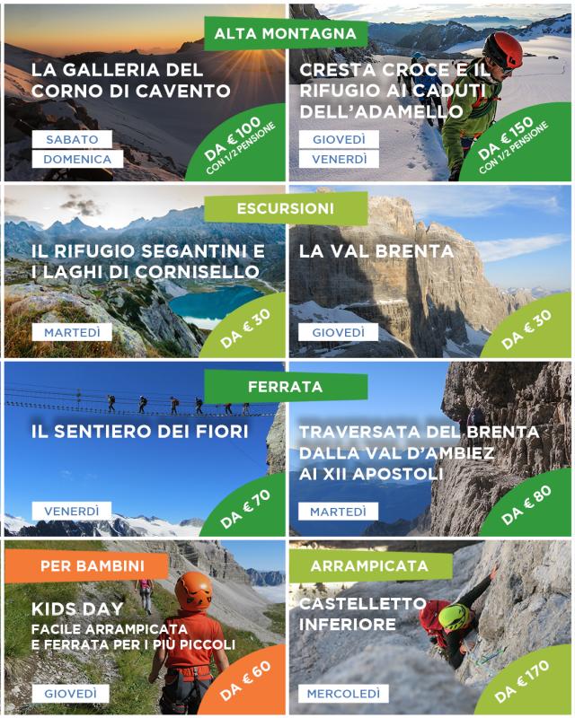 programma guide alpine pinzolo madonna di campiglio